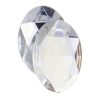 Acrylic 30x20mm Oval Facet Crystal